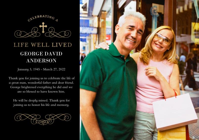 Sympathy 5x7 Cards, Premium Cardstock 120lb, Card & Stationery -Memorial Sympathy Swirls by Tumbalina