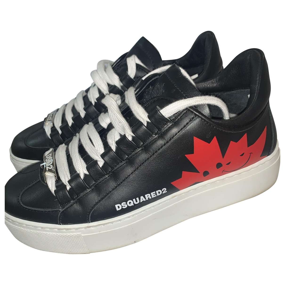 Dsquared2 \N Black Leather Trainers for Women 36 EU