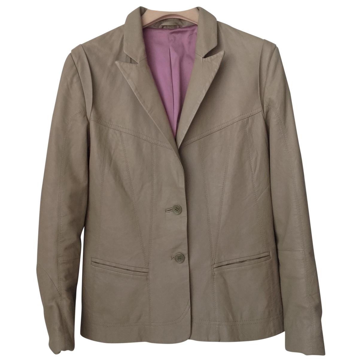 Zadig & Voltaire \N Beige Leather jacket for Women M International