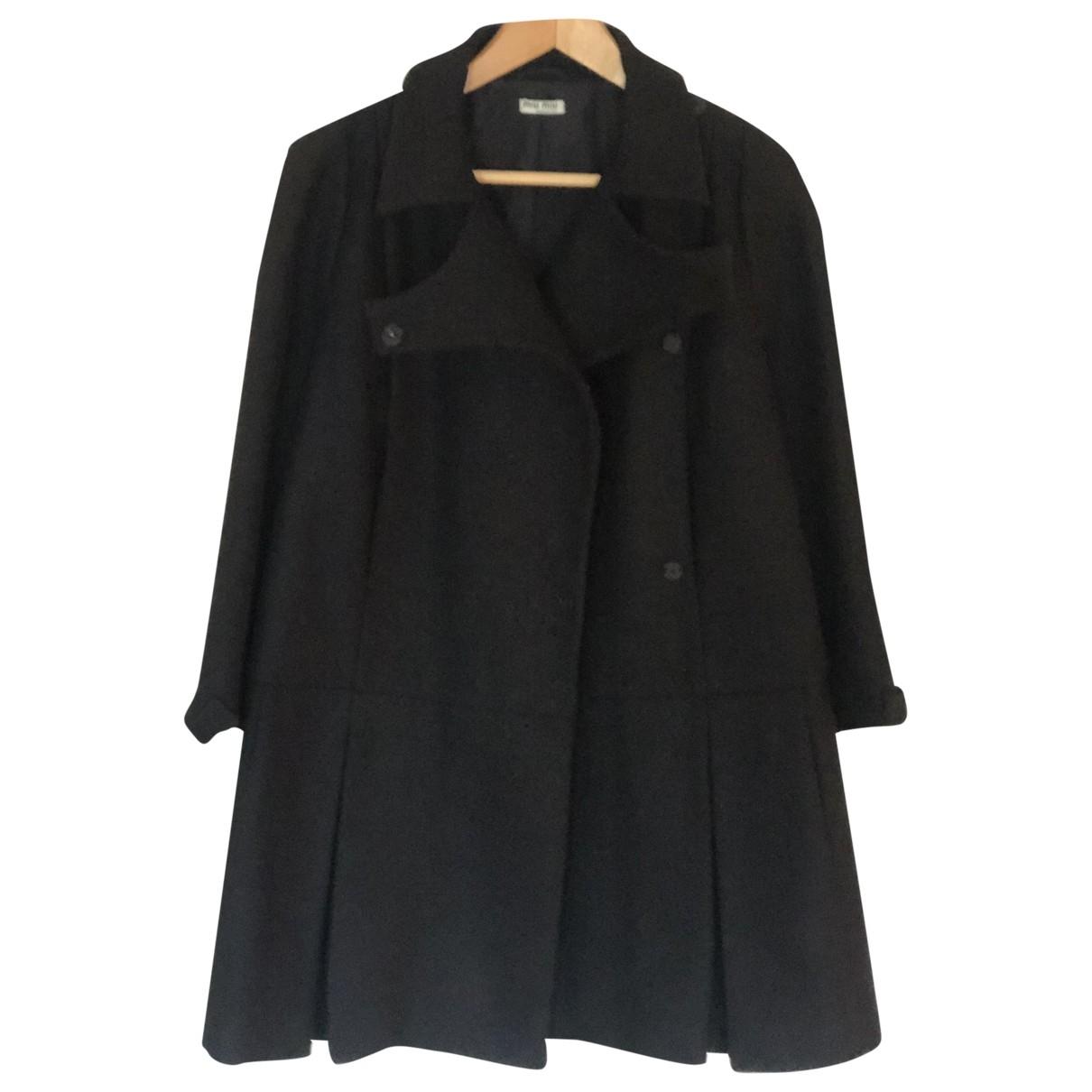 Miu Miu \N Blue Wool coat for Women 42 IT