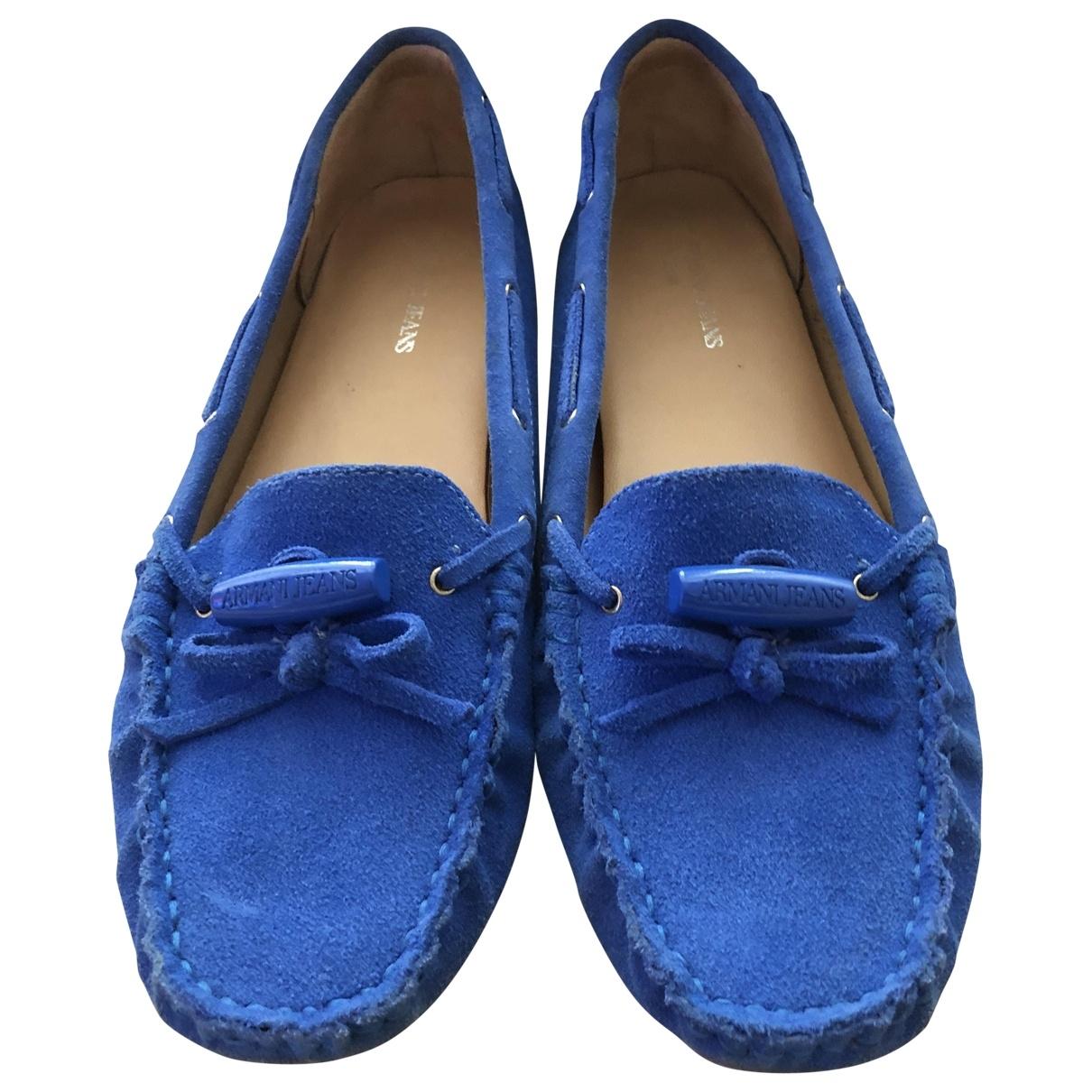 Armani Jeans \N Mokassins in  Blau Veloursleder