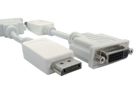 RS PRO 15cm Display Port M - DVI-D F Adaptor -