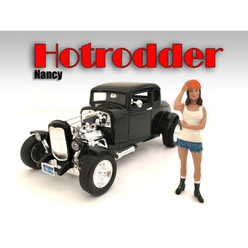 Hotrodders Nancy Figure For 124 Scale Models by American Diorama