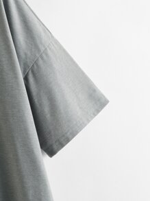 Drop Shoulder Solid Longline Tee
