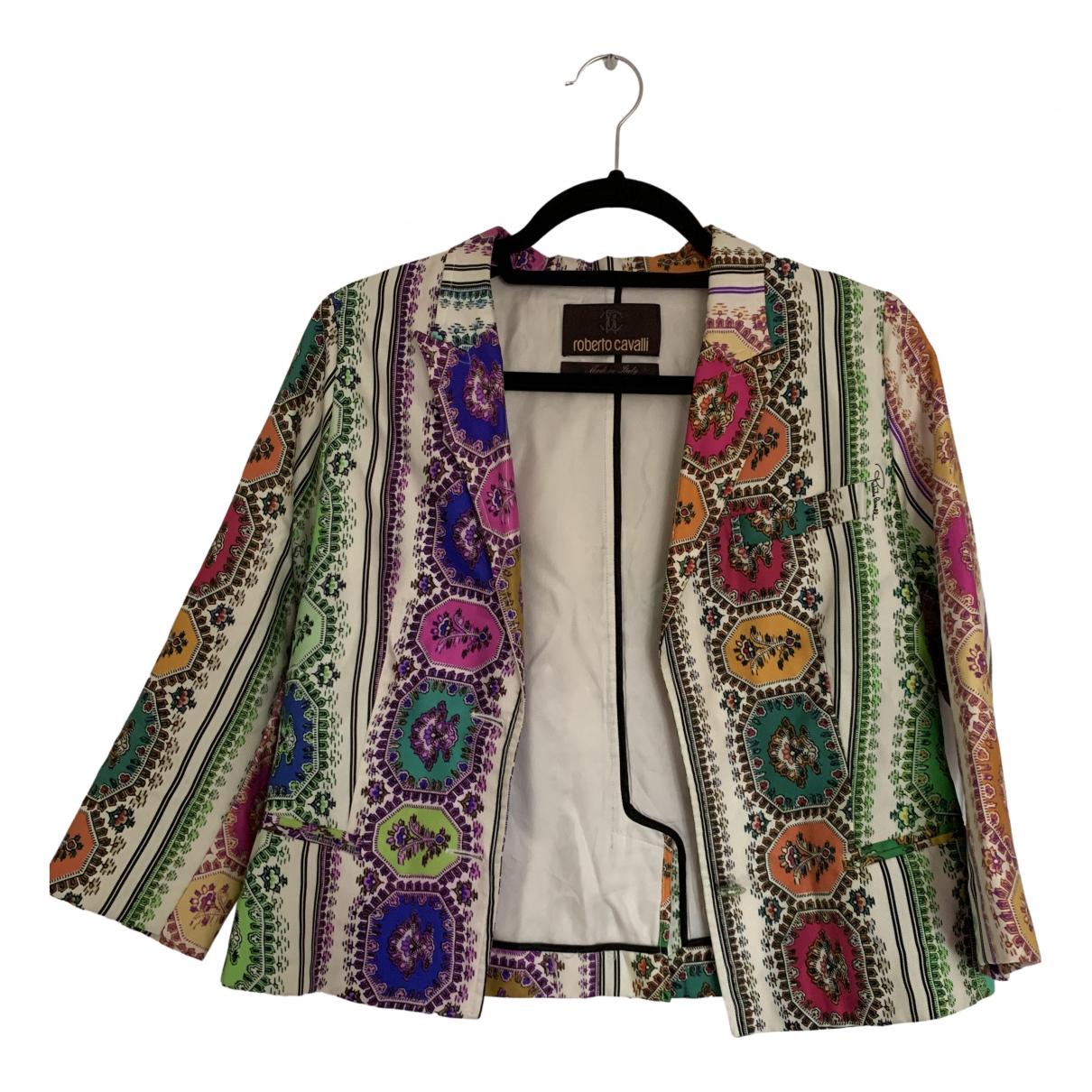 Roberto Cavalli - Veste   pour femme en soie - multicolore