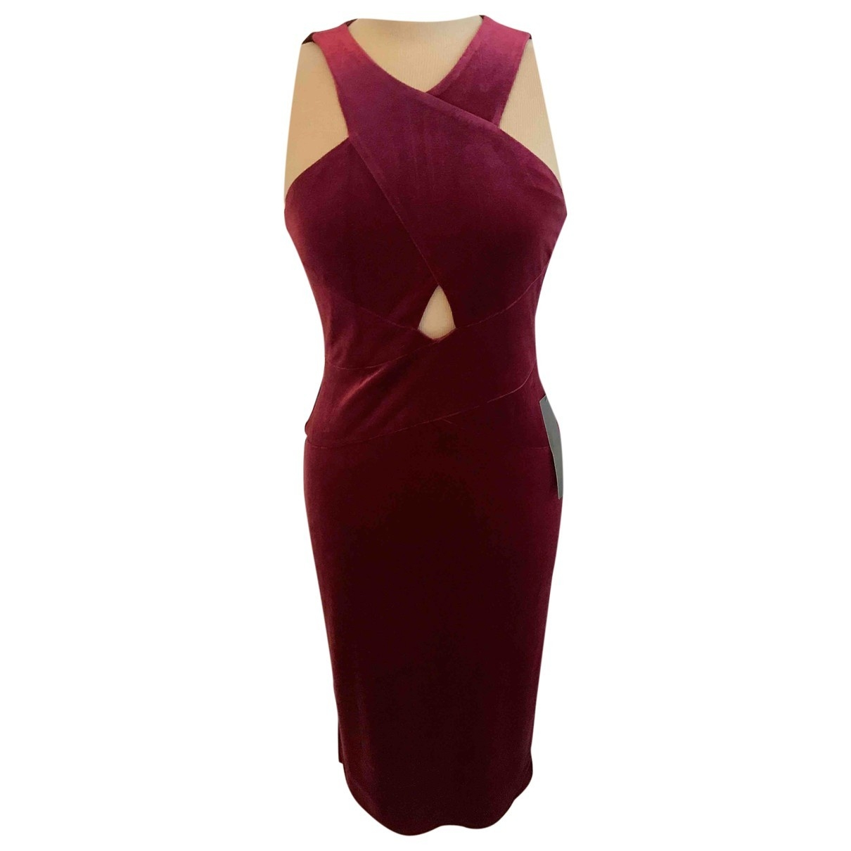 Bcbg Max Azria \N Kleid in  Bordeauxrot Polyester