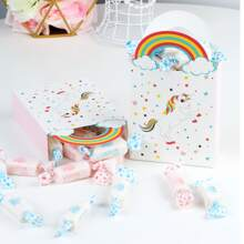 6pcs Unicorn Print Paper Bag