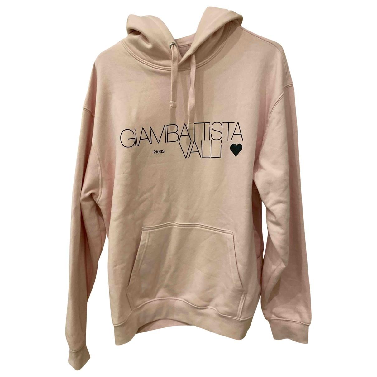 Giambattista Valli X H&m \N Pullover.Westen.Sweatshirts  in  Rosa Baumwolle