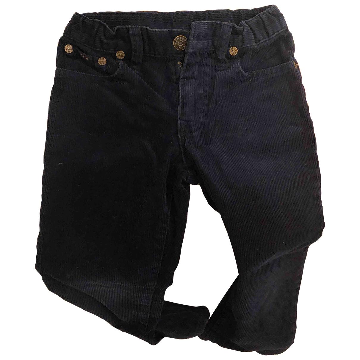 Polo Ralph Lauren - Pantalon   pour enfant en velours - bleu