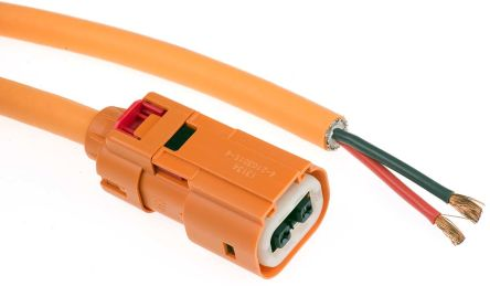 TE Connectivity , HVA Electric Vehicle Charging Cable Socket, 40A, 3m Cable, Orange