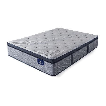 Serta Perfect Sleeper Kingsburg Plush Pillowtop - Mattress Only, One Size , Blue