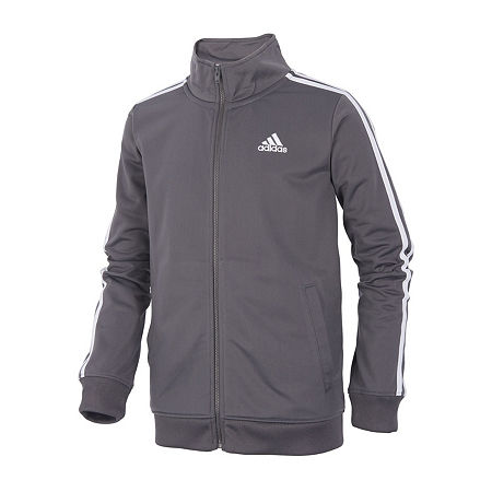 adidas Big Boys Lightweight Track Jacket, X-large (18-20) , Gray