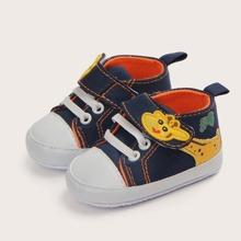 Baby Jungen Sneakers mit Karikatur Giraffe Muster