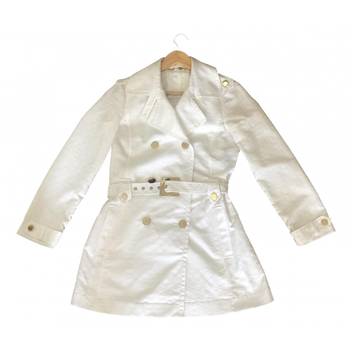 Versace - Trench   pour femme en coton - blanc