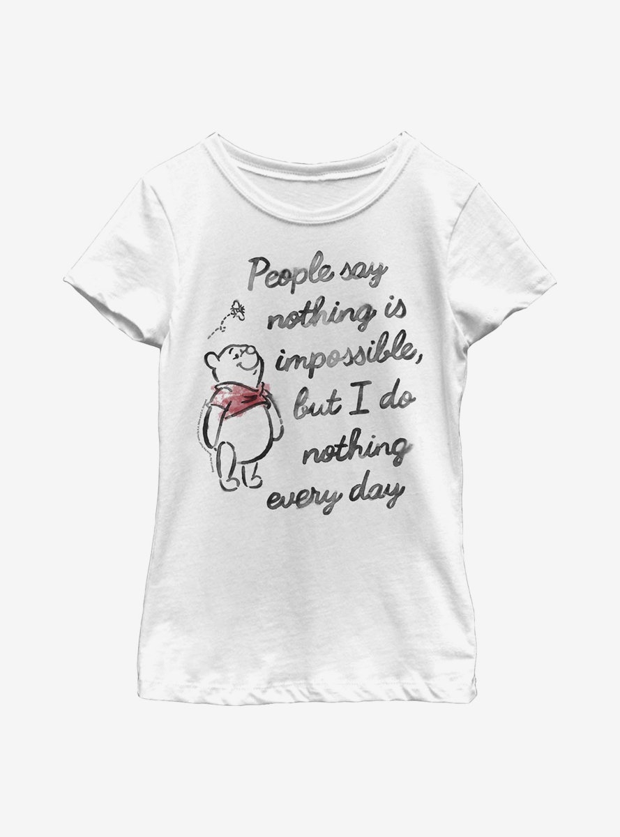 Disney Winnie The Pooh Impossible Youth Girls T-Shirt