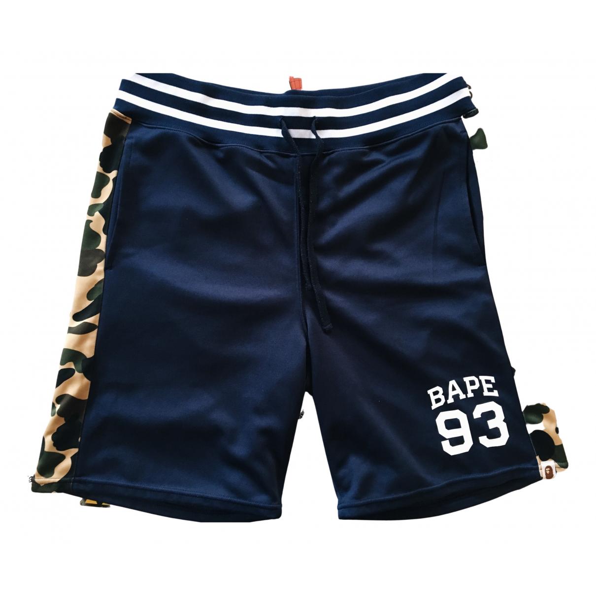A Bathing Ape \N Shorts in  Marine Baumwolle