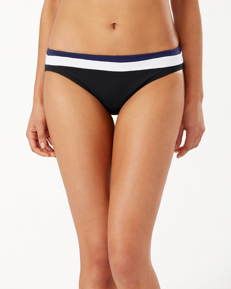 Color Block Reversible White Hipster Bikini Bottoms