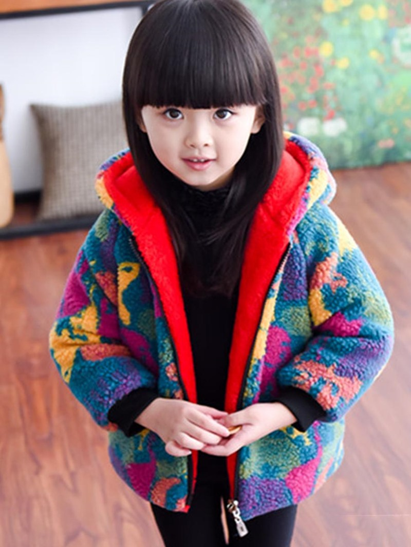 Ericdress Camouflage Round Neck Hooded Cornflakes Warm Winter Jacket