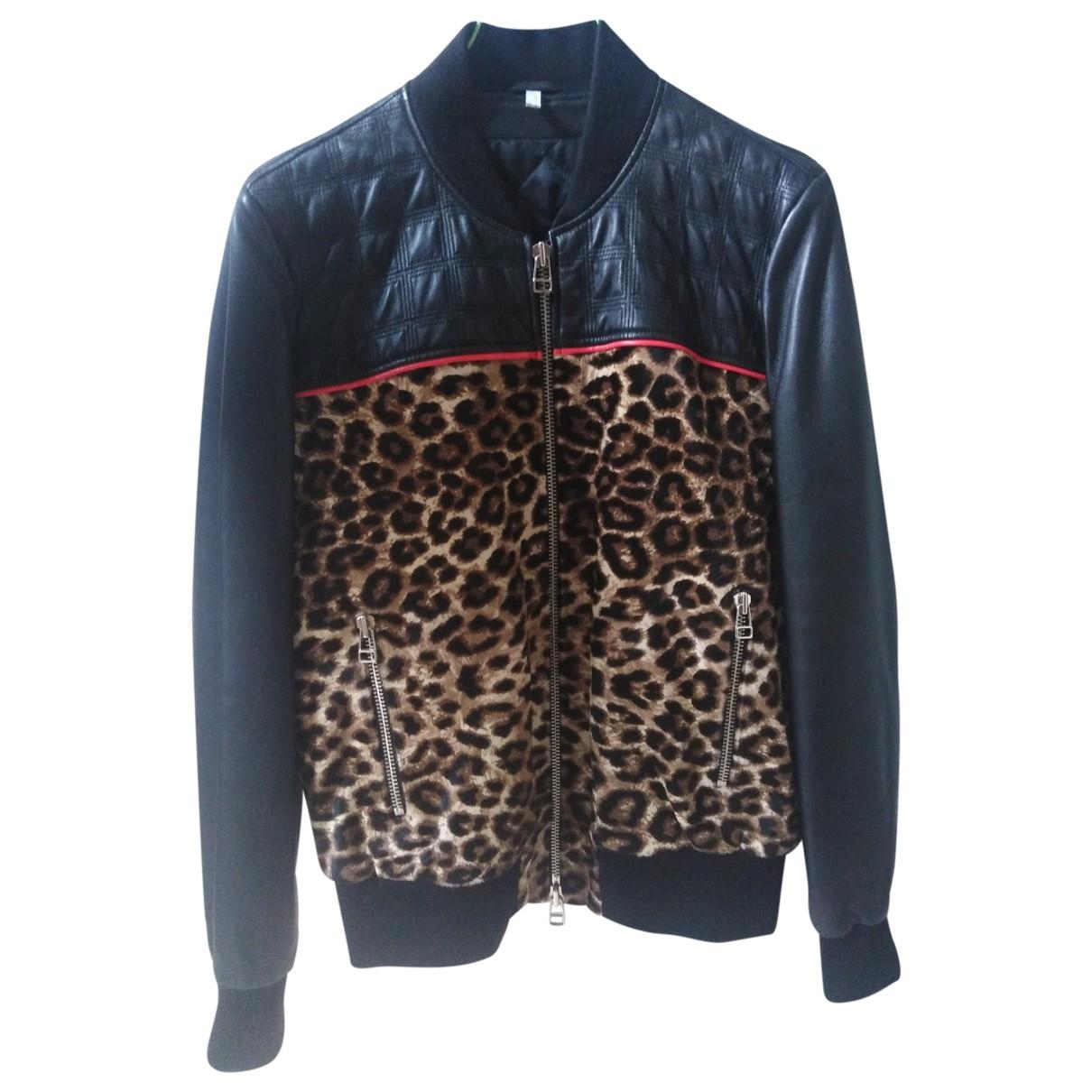 Faith Connexion \N Black Leather Leather jacket for Women 36 FR