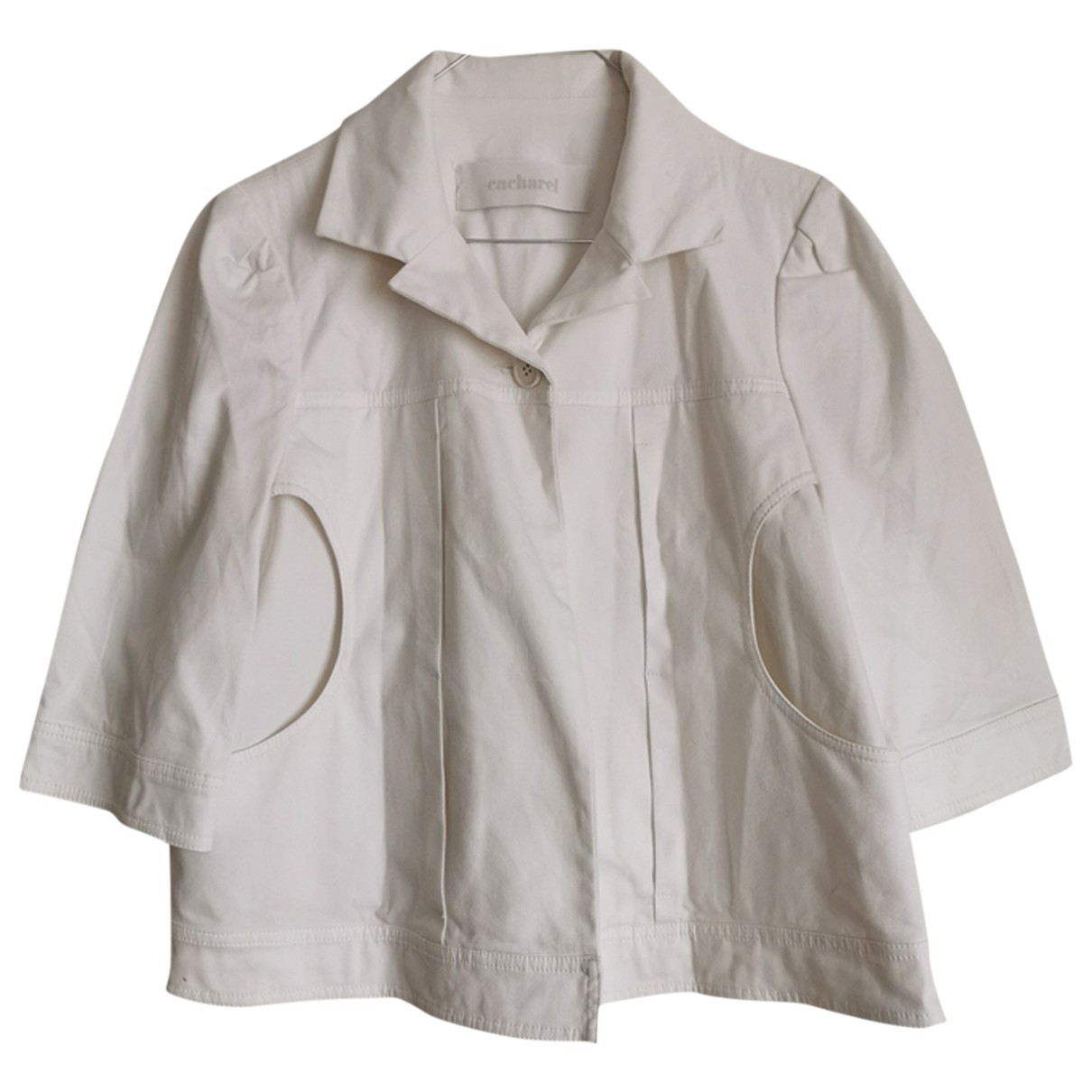 Cacharel \N White Cotton jacket for Women 36 FR