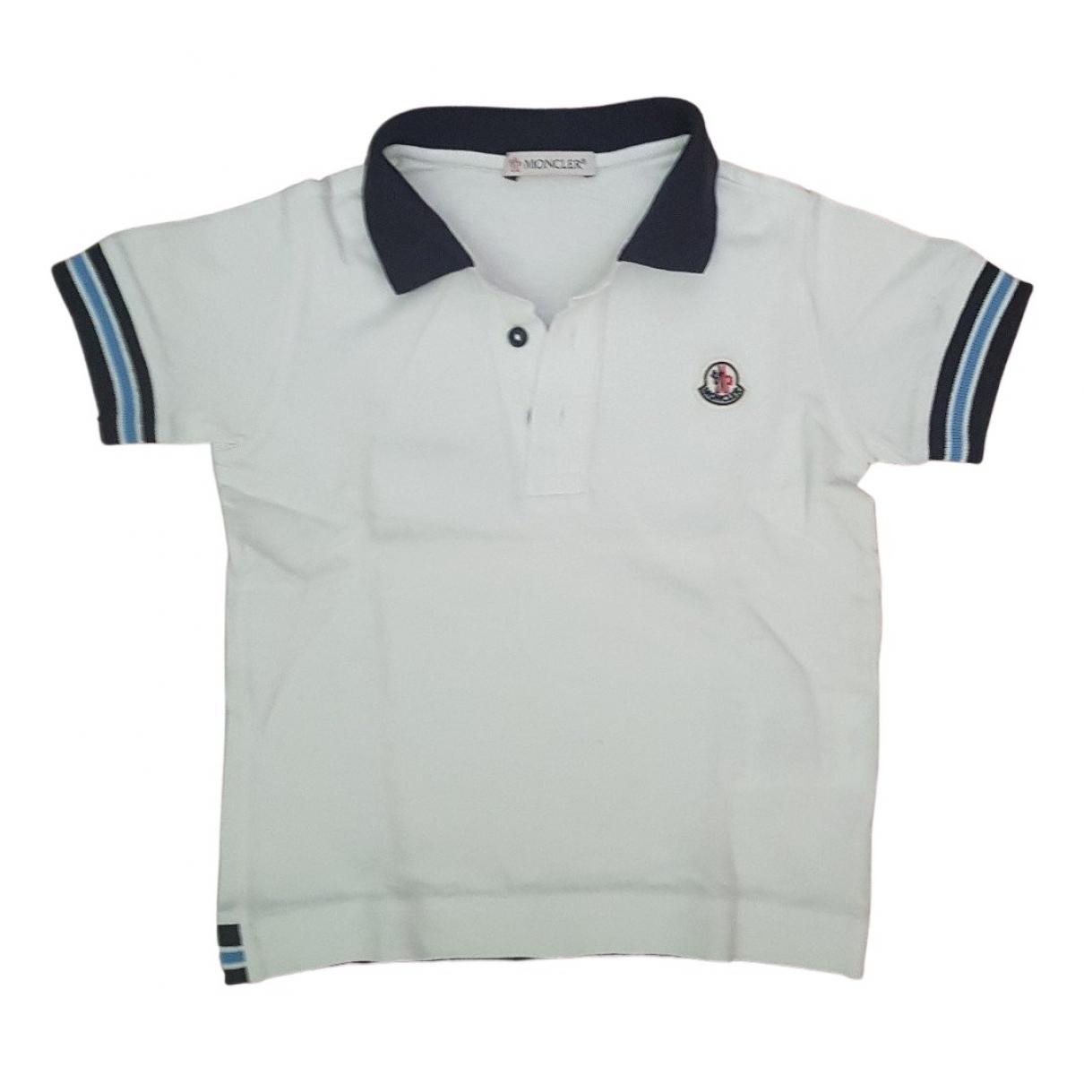 Camisetas en Algodon Blanco Moncler