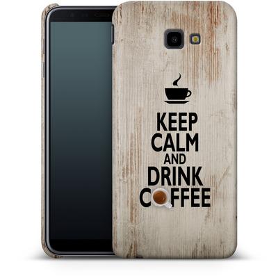 Samsung Galaxy J4 Plus Smartphone Huelle - Drink Coffee von caseable Designs
