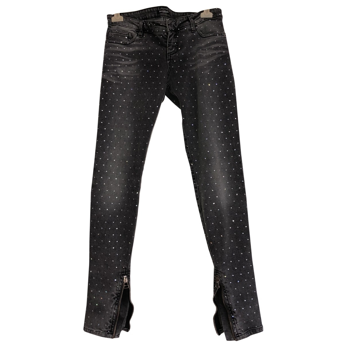 Balmain \N Grey Cotton - elasthane Jeans for Women 40 FR
