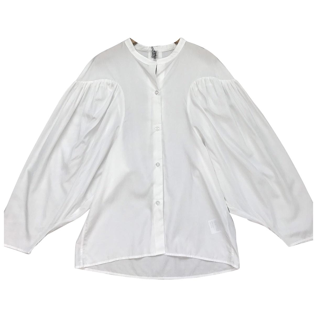 Toteme - Top   pour femme en coton - blanc
