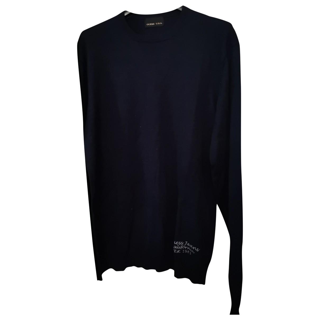 Guess \N Pullover.Westen.Sweatshirts  in  Blau Wolle
