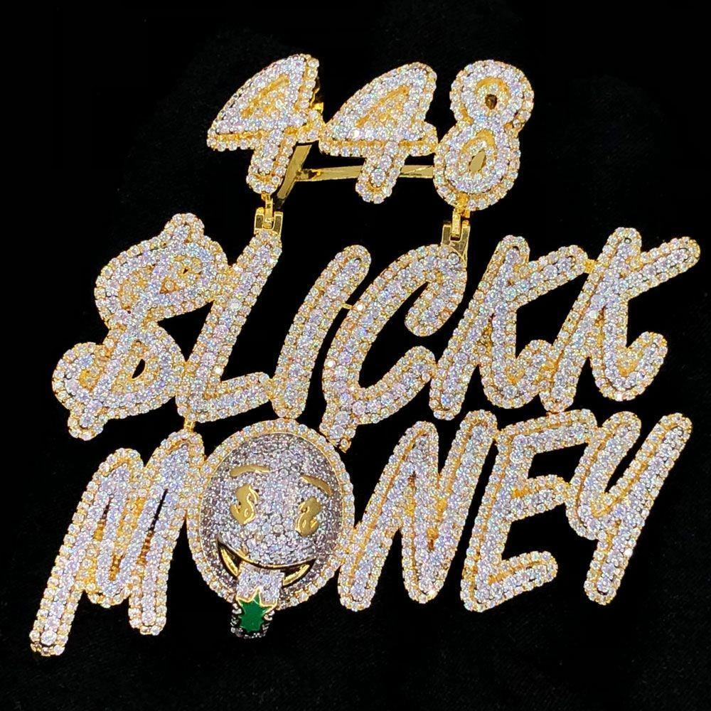 448 Slickk Money VVS CZ Hip Hop Bling Bling Pendant