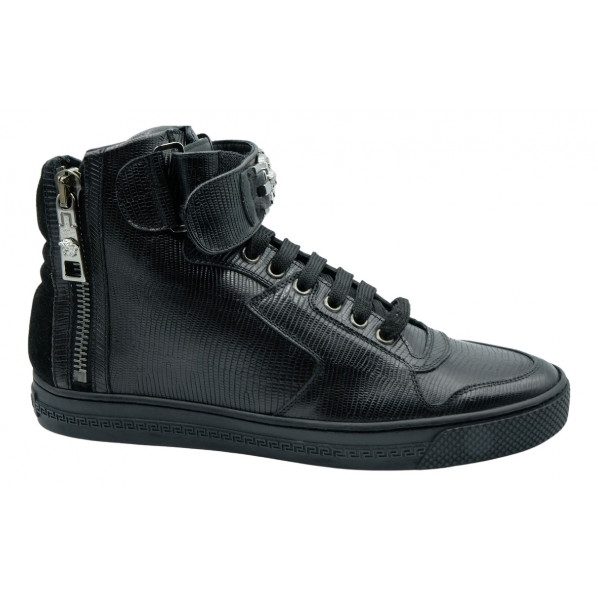 Versace N Black Leather Trainers for Women 39 EU