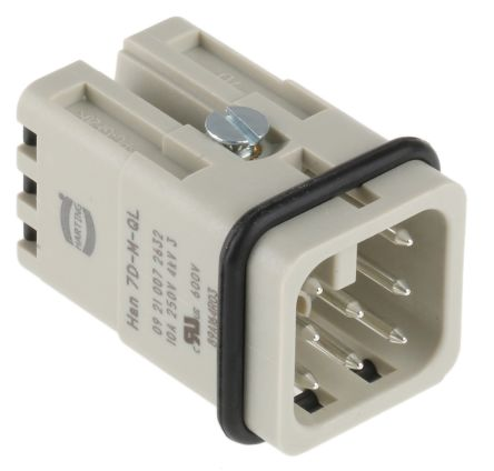 HARTING Han D Series Quick Lock Connector, Male, 8 Way, 10A, 250 V