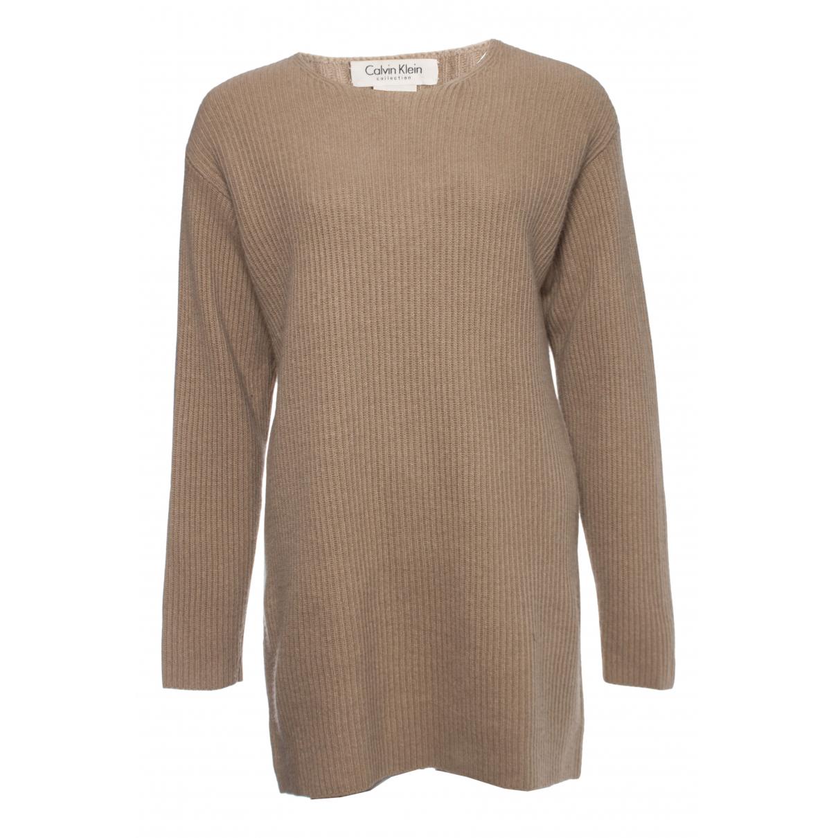 Calvin Klein - Pull   pour femme en laine - marron