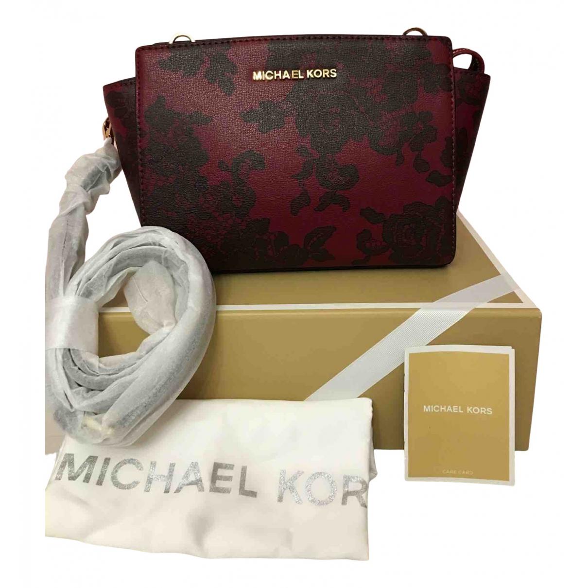 Michael Kors - Sac a main   pour femme en cuir - bordeaux