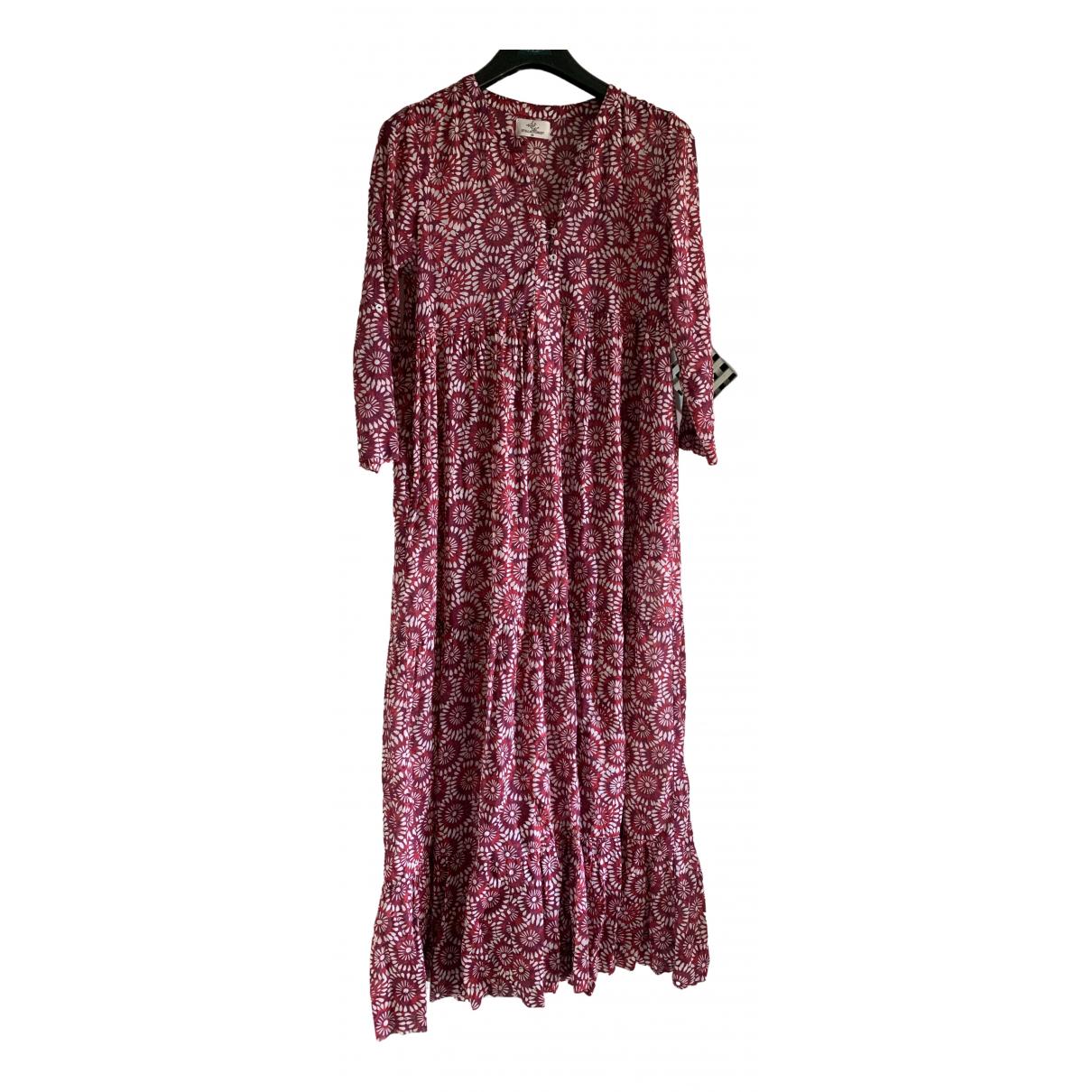 Stella Forest \N Kleid in  Rot Baumwolle