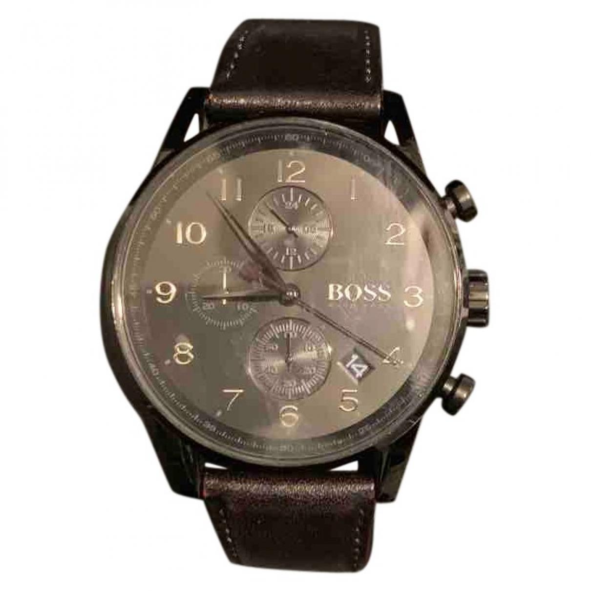 Hugo Boss \N Uhr in  Schwarz Stahl