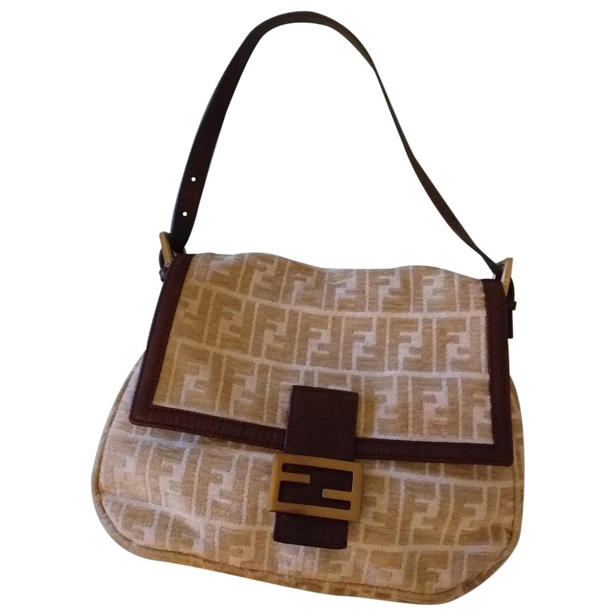 Fendi Mamma Baguette  Handtasche in  Bunt Leinen