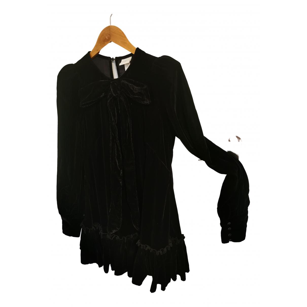 The Vampires Wife X H&m - Robe   pour femme en velours - noir
