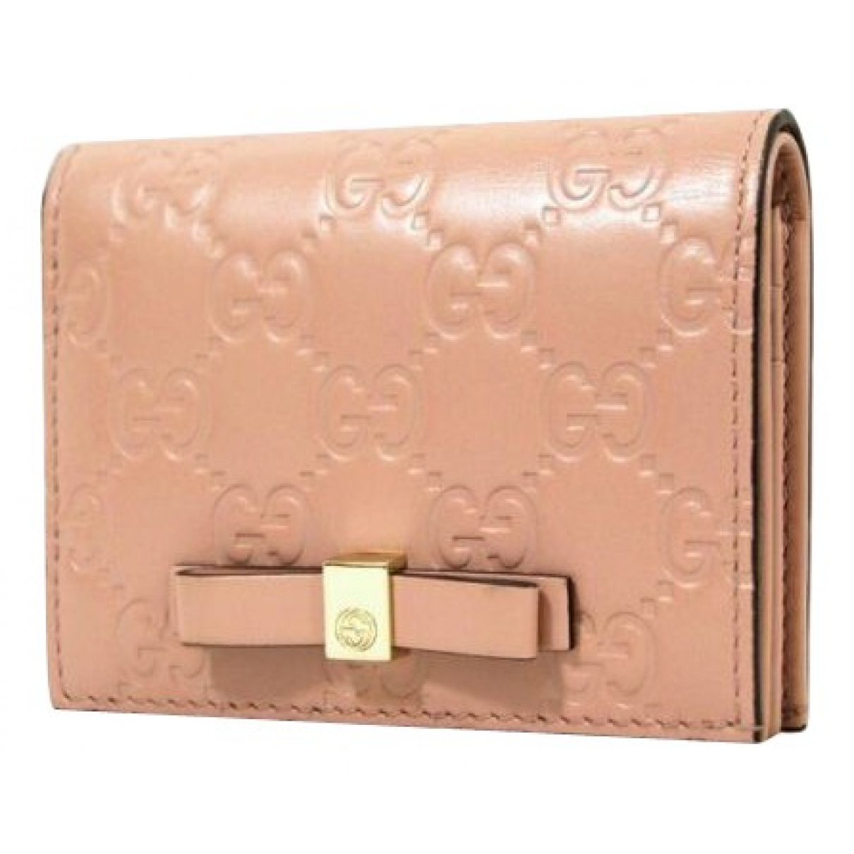 Gucci N Pink Leather wallet for Women N