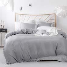 Set de cama ribete con encaje sin relleno