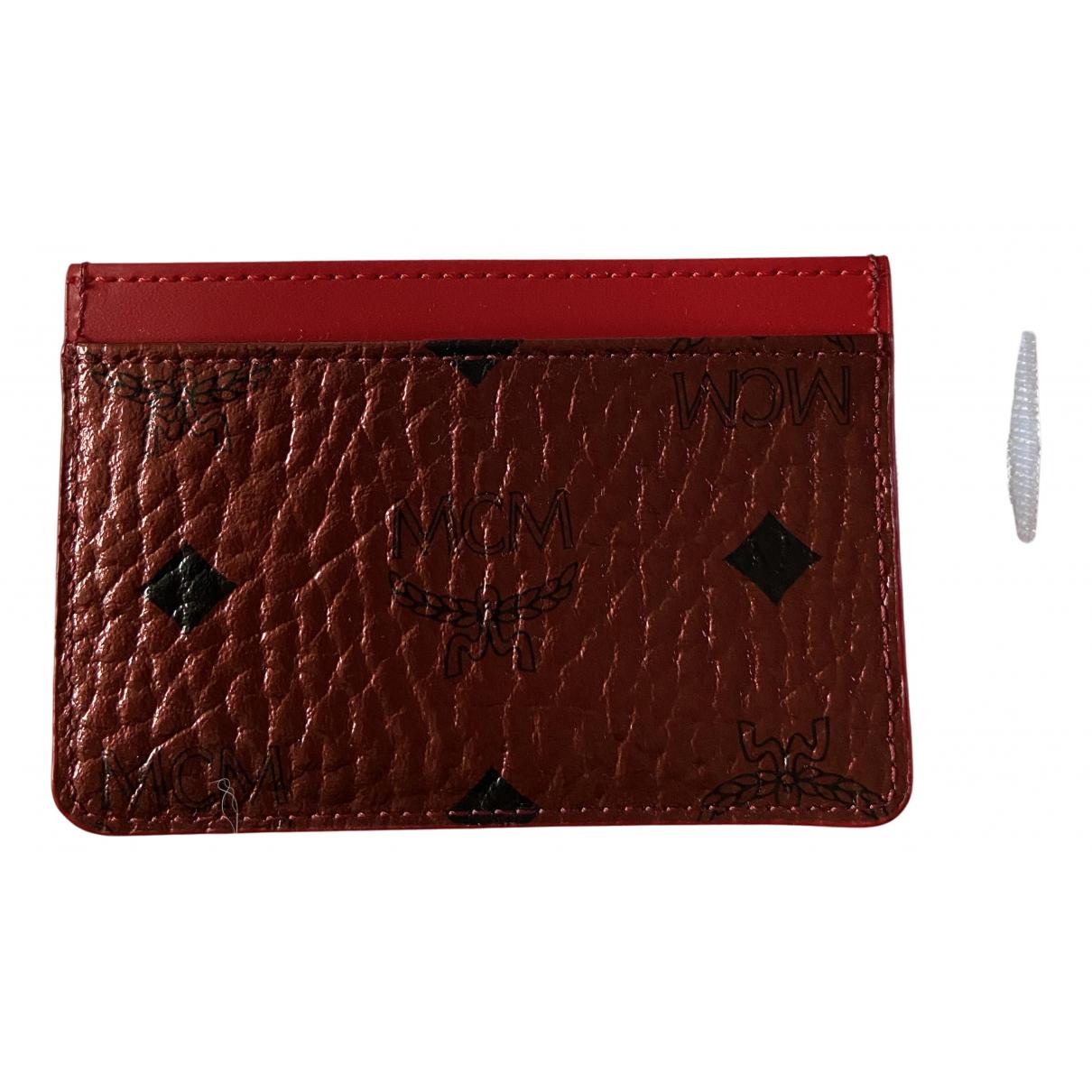 Mcm \N Portemonnaie in  Rot Leder