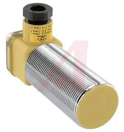 Turck M30 x 1.5 Inductive Sensor - Barrel, PNP-NO Output, 10 mm Detection, IP67, PG9 Gland Terminal