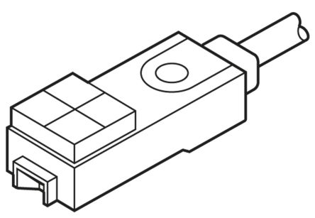 Panasonic Inductive Sensor - Block, NO Output, 2.5 mm Detection, IP67, Cable Terminal