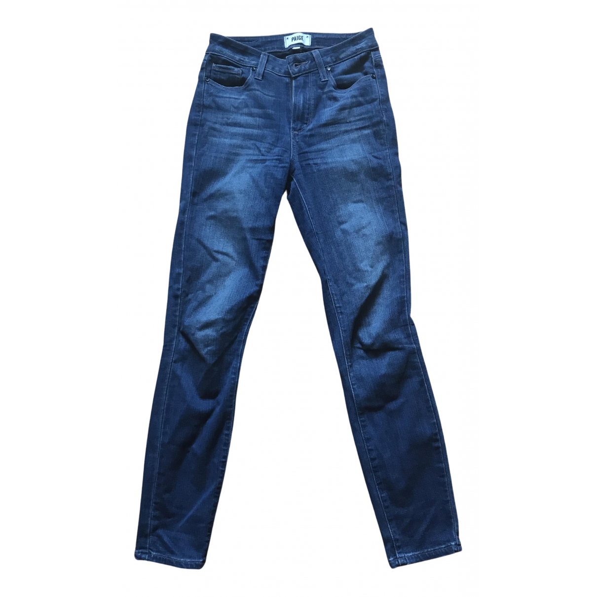 Paige Jeans N Navy Cotton - elasthane Jeans for Women 24 US
