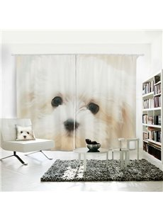 Lovely Dog Pattern 3D Printed Polyester Curtain