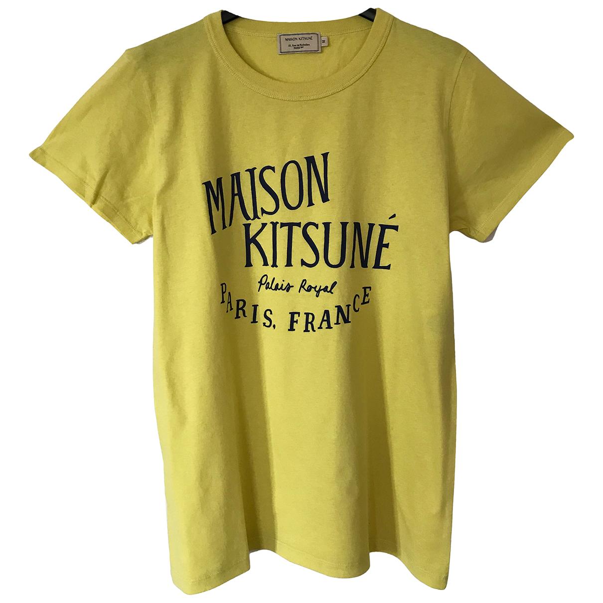 Maison Kitsune - Top   pour femme en coton - jaune