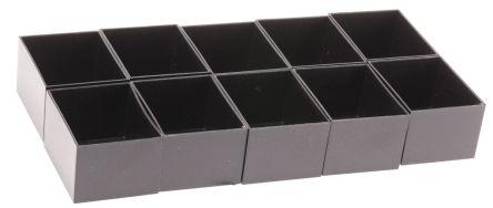 CAMDENBOSS Blk ABS 1mm wall potting box,50x40x30mm, Black (10)