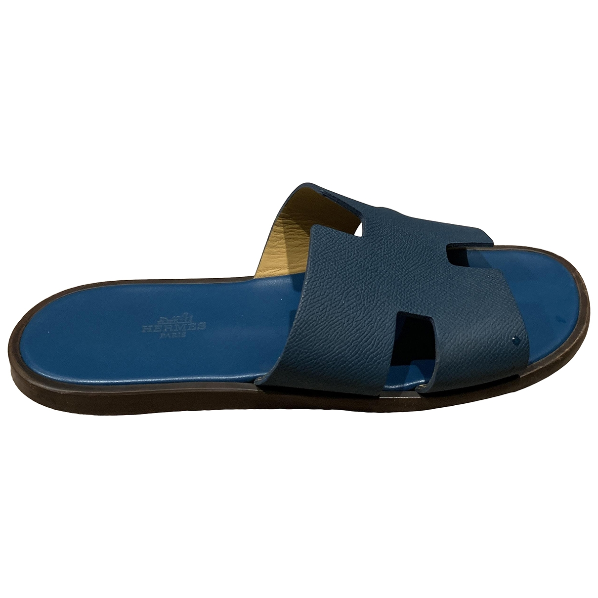 Hermès Izmir Navy Leather Sandals for Men 42 EU
