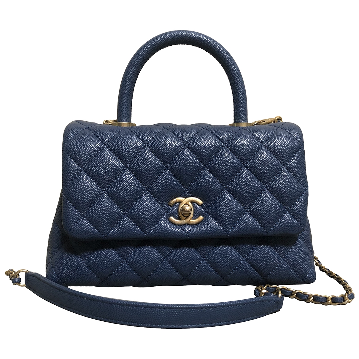 Chanel Coco Handle Blue Leather handbag for Women \N