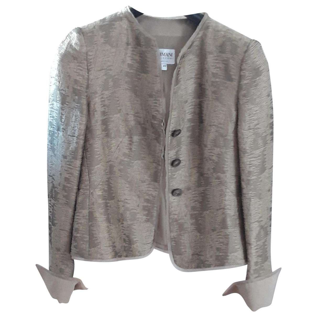 Giorgio Armani N Metallic Linen jacket for Women 42 FR